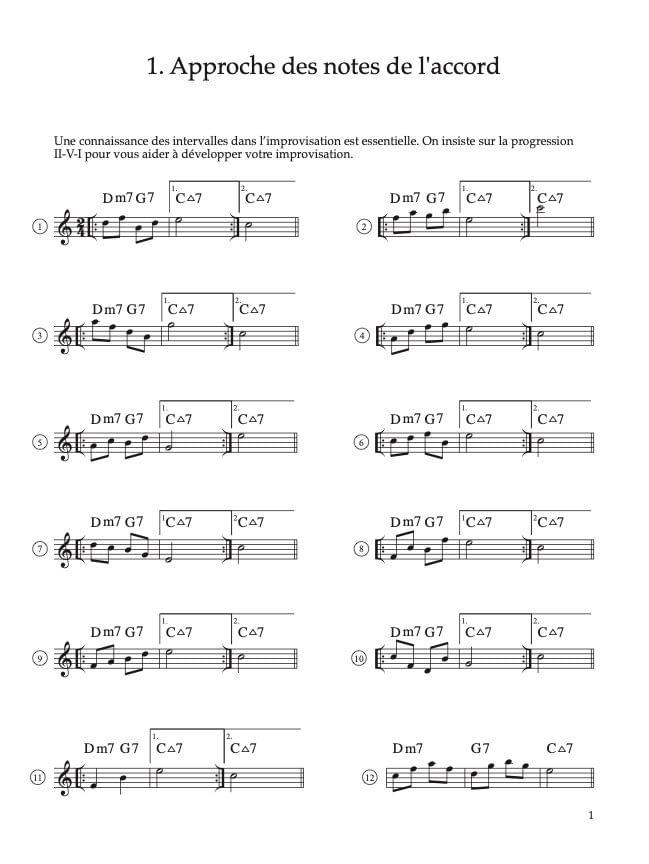 Page 9 – Comment développer votre improvisation