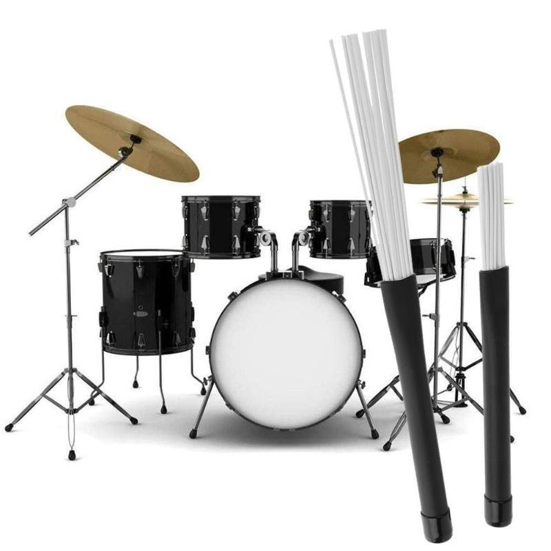 2pcs/set Retractable Nylon Jazz Drum Brushes 23cm Drum Sticks Percussion Drumsticks With Rubber Handles Musical Accessories|Parts & Accessories 3