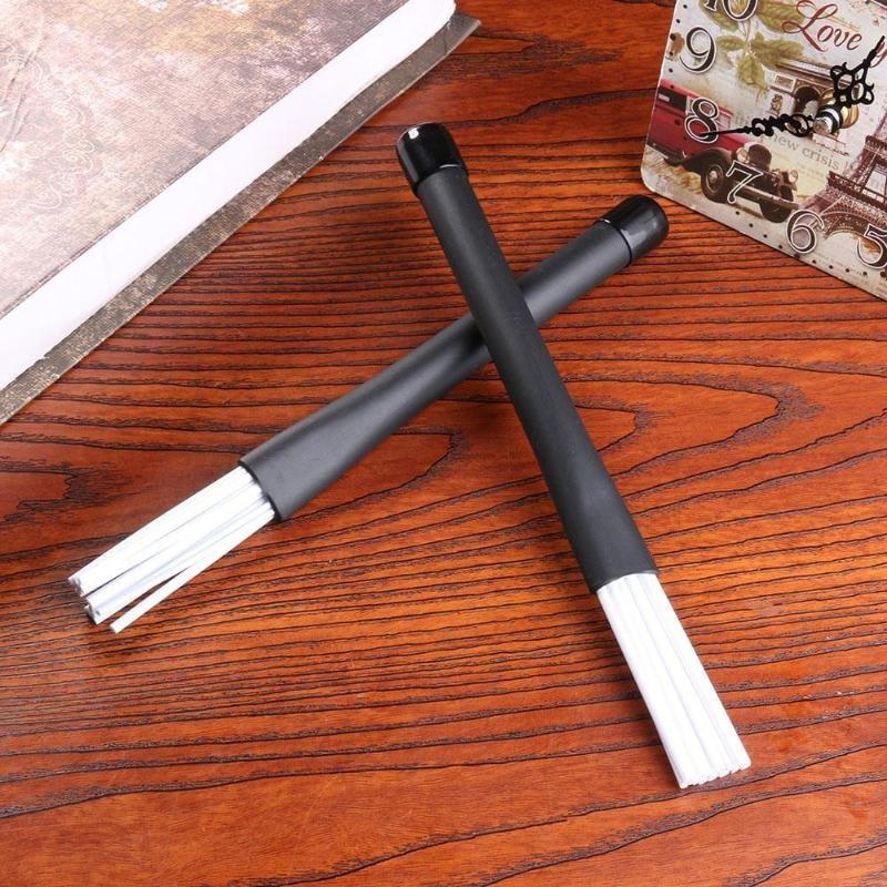 2pcs/set Retractable Nylon Jazz Drum Brushes 23cm Drum Sticks Percussion Drumsticks With Rubber Handles Musical Accessories|Parts & Accessories 4
