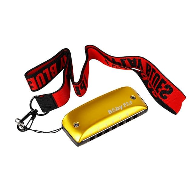 A B C D F G Key Harmonicas Music Musical Instrument 7 Holes Blues Jazz Rock Folk for Music Lovers Playing Accessory – YELLOW 10